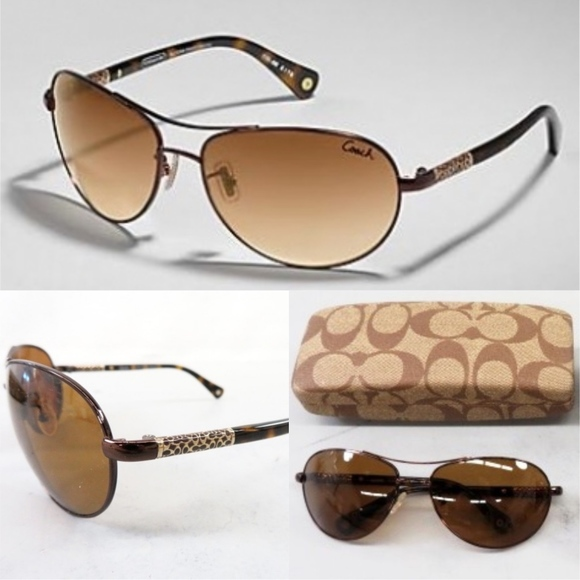 6ff459b8cd Coach Accessories - COACH Aviator Allegra S567 Sunglasses